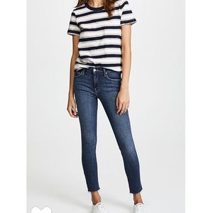 MOTHER the Looker raw fray Edge skinny jeans 28